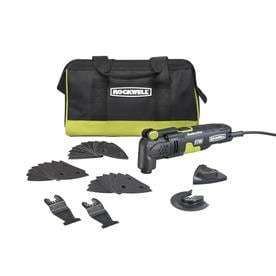 Rockwell RK5132K Sonicrafter F30 3 5 Amp Oscillating Multi Tool 32 Piece Kit with Bag  Variable Speed  Hyperlock Clamping  low Vibration and Universal Fit System
