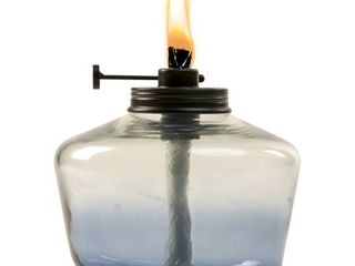 Glass Outdoor Tabletop Torch Blue   TIKI