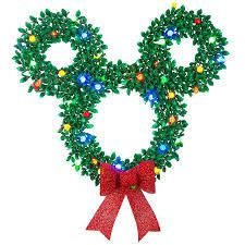 Disney pixar 34  Hanging Mickey Mouse led Christmas Wreath W led lights lights out