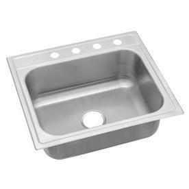 Elkay 20 Gauge Single Basin Drop In Stainless Steel Kitchen Sink