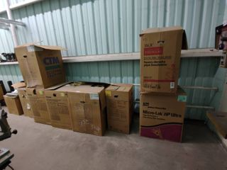 7 Boxes of Assorted Sized Heavy Density pipe Insulation