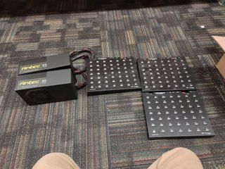 lot of 2 Antec Power Supplies and 3 49 Port USB Hubs