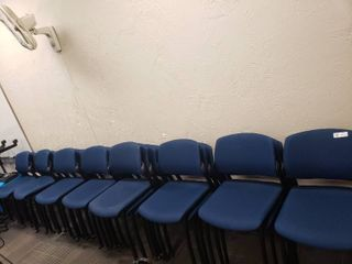 lot of Approx  25 Blue Waiting Room Chairs