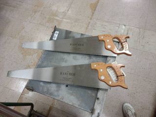 Two Disston  R 1 Rancher 25 inch hand saw