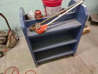 Metal 2 Sided Book Cart