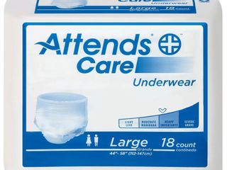 Attends Care Absorbent Underwear APV30 Regular Pack of 18  White