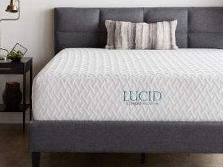lucid Comfort Collection 3 Inch Gel Memory Foam Topper   Blue