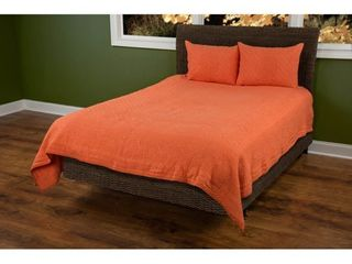 Queen  Rizzy Home Moroccan Fling Orange Cotton Quilt Retail 251 49