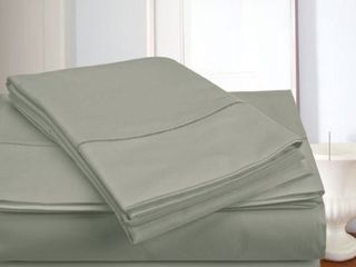 King   Silver  luxury Solid 100  Egyptian Cotton Sateen Weave 800 Thread Count Deep Pocket Pure Cotton Sheets Set