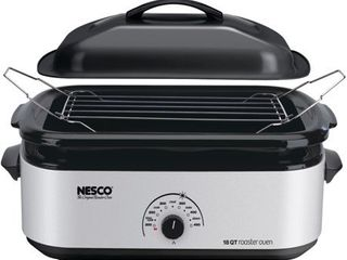 Nesco 18 Polished Roaster Oven 16 5 in  H x 24 in  l x 8 5 in  W Retail 82 99