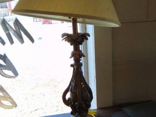 brass feather lamp