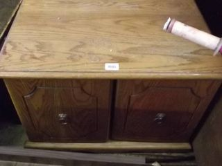 2 door Oak end table