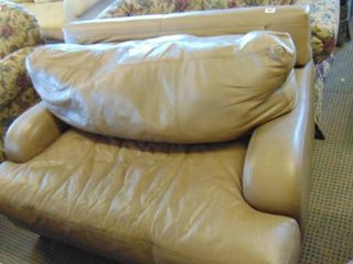 leather over sized chair