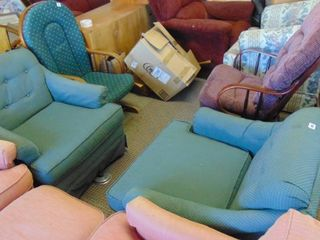 2 teal chairs