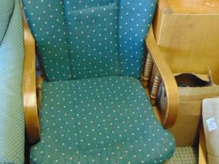 padded glider rocker   green