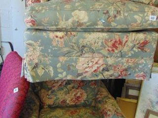 2 floral occasional chairs