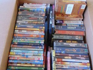 large lot of DVDs and some VHS