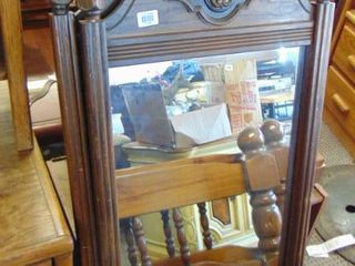 2 mirrors   wood framed