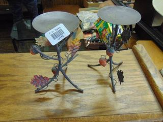 fall leaves metal candle holders