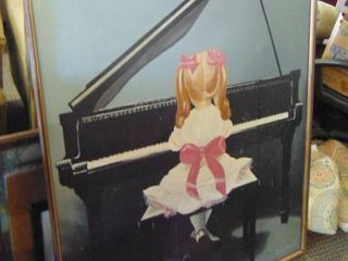 huge canvas picture girl playing piano