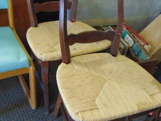 2 wood side chairs   matching