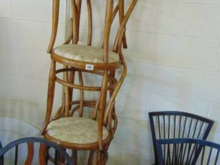 4 matching wood side chairs