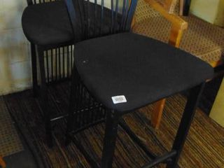 2 black matching side chairs