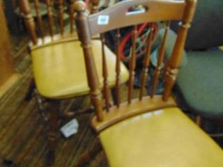 2 matching wood padded side chairs