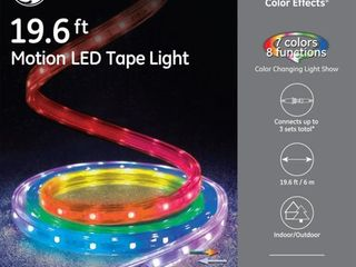 GE Color Effects 180 Count 19 6 ft Multi function Color Changing Integrated led Plug In Christmas Rope lights with Clear Tubing