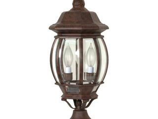 Nuvo 60 898 Old Post lantern with Clear Beveled Panels  Old Bronze