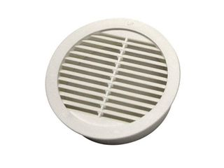 Master Flow 4 in  Resin Circular Mini Wall louver Soffit Vent in White  4 Pack