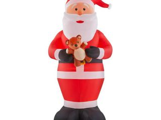 Home Accents Holiday 12 ft  Giant Inflatable Santa with lED lights