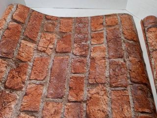 Wallpaper rustic brick estimated size 21in x 16ft