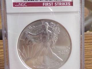 NGC GRADED 2001 SIlVER EAGlE   MS69   FIRST STRIKES
