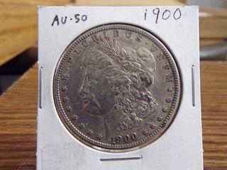 1900 MORGAN DOllAR AU50