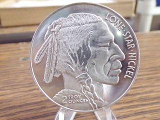 2OZ  DSM INDIAN HEAD COIN