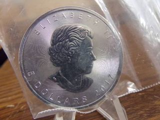 2017 CANADIAN SIlVER MAPlE 1 OZ