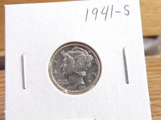 1941 S MERCURY DIME