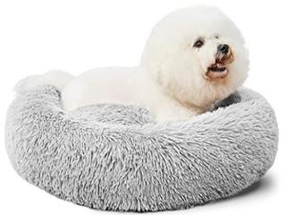 Hachikitty Round Grey Dog Bed