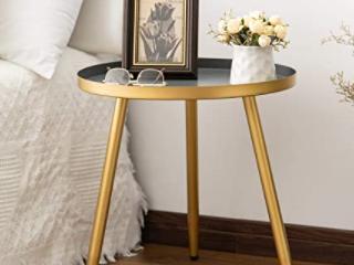 Gray Gold 3 leg Metal Tray Table