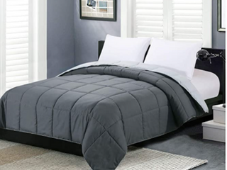 Homelike Moments lightweight Dark Grey Twin Size Blanket And Two Pillow Cases
