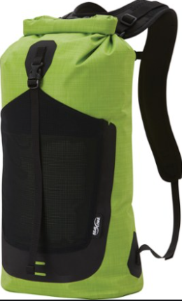 Perception Kayaks Waterproof Bag   Gray Neon Green
