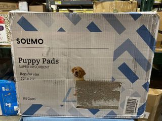 Solimo Puppy Pads  Regular Size  150 Count