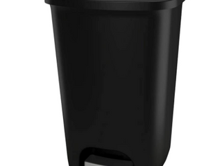 20 Gallon Capacity Plastic Step Trash Can lid Protection Touchless Garbage