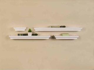 Melannco Set of 4 Wall Shelves