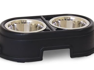 Double Pet Food Bowl
