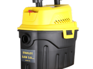 Stanley 3 Gallon Wet Dry Vacuum  3 Peak HP Poly 2 in 1 Shop Vac with Powerful Suction  Multifunctional Shop Vacuum Car Vacuum W  3 Horsepower Motor for Auto Detailing  Tight Space Garage Van Vehicle