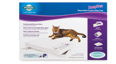 ScoopFree Disposable Crystal litter Tray   Includes Sensitive litter   lid