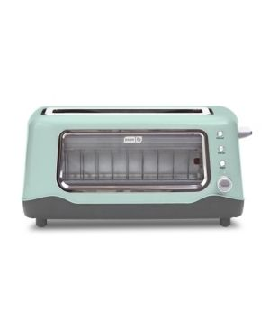 Dash 2 Slice Clear View Toaster   Aqua