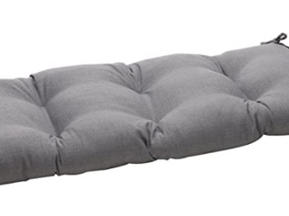Pillow Perfect Indoor   Outdoor Gray Bench Cushion